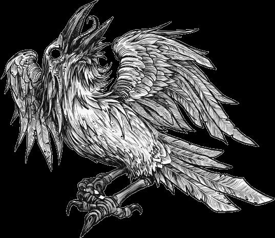 The image show IronBourne Crow emblem